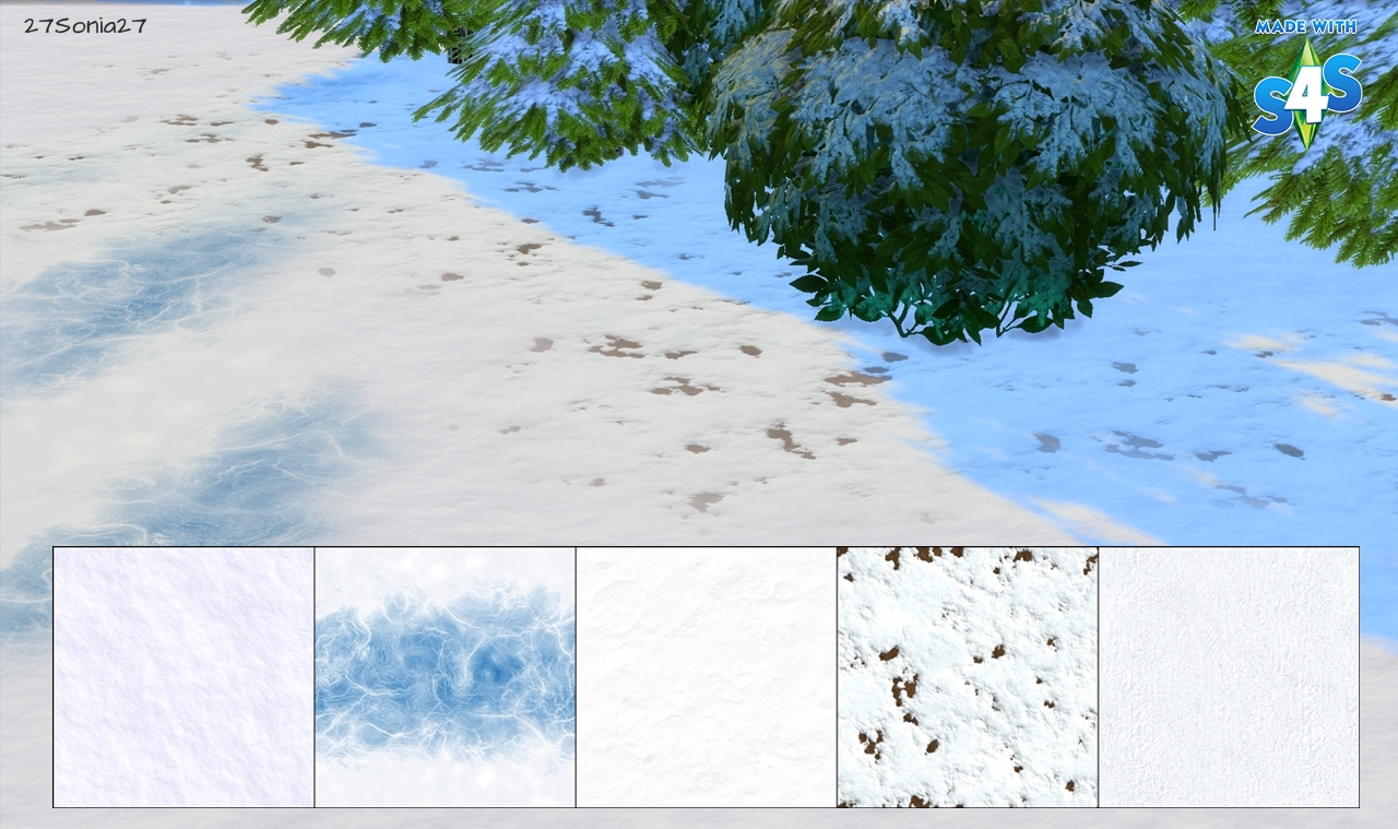terrain paints snow