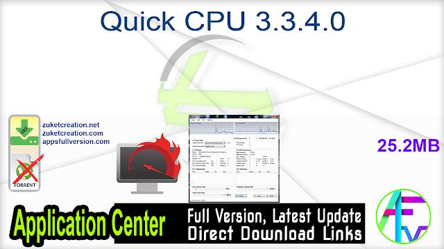 Quick CPU 3.3.4.0