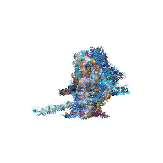 Blue fishlike creature