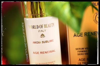World Of Beauty - Akoia Sublime Age Renewal Serum siero viso tonificante