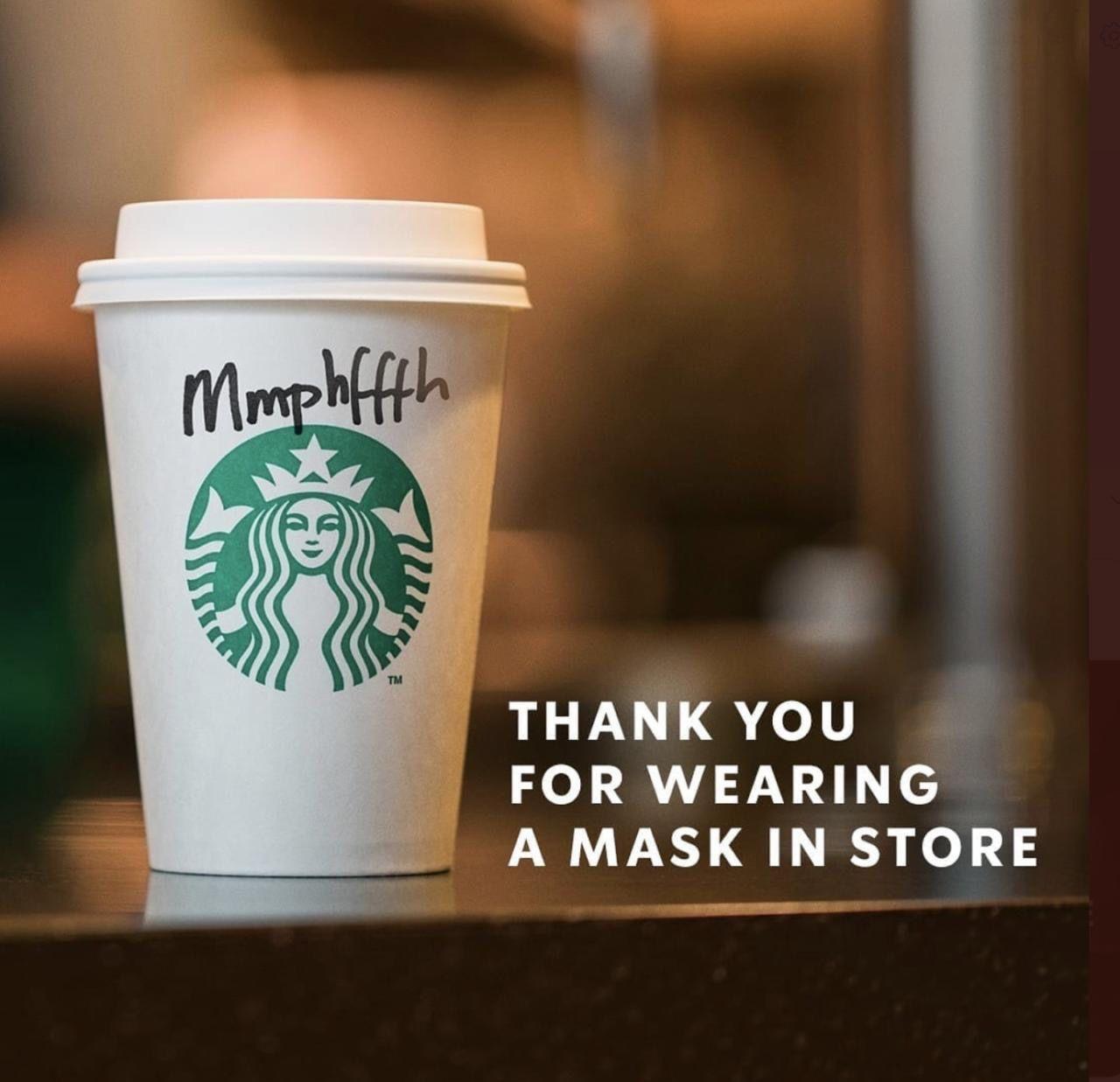 Starbucks: Wear mask