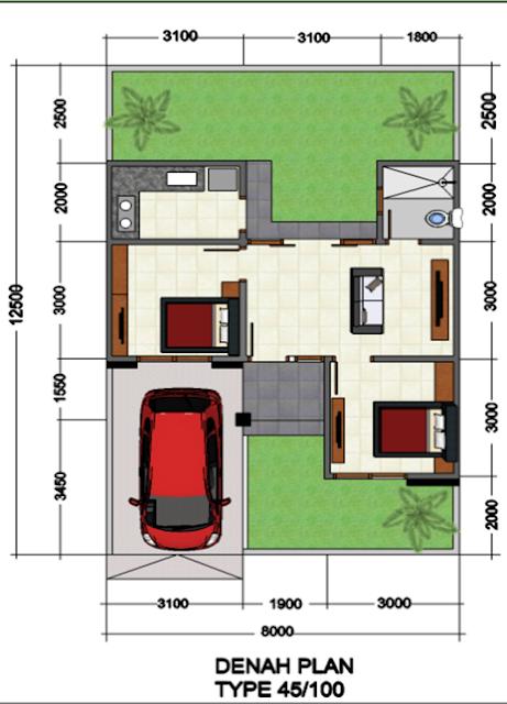 Rumah Minimalis Modern Singaraja Type 45/100