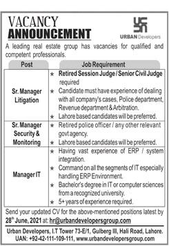 www.urbandevelopersgroup.com Jobs 2021 - Urban Developers Lahore Jobs 2021 in Pakistan