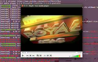 Streaming in VLC using youtube-dl