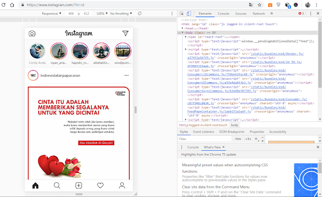 Cara Mengirim Direct Messaging Instagram di  PC atau Laptop Tanda Aplikasi