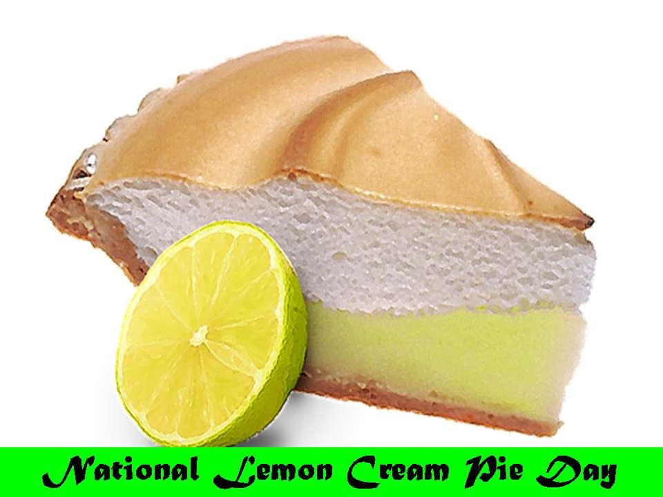 National Lemon Cream Pie Day Wishes Pics