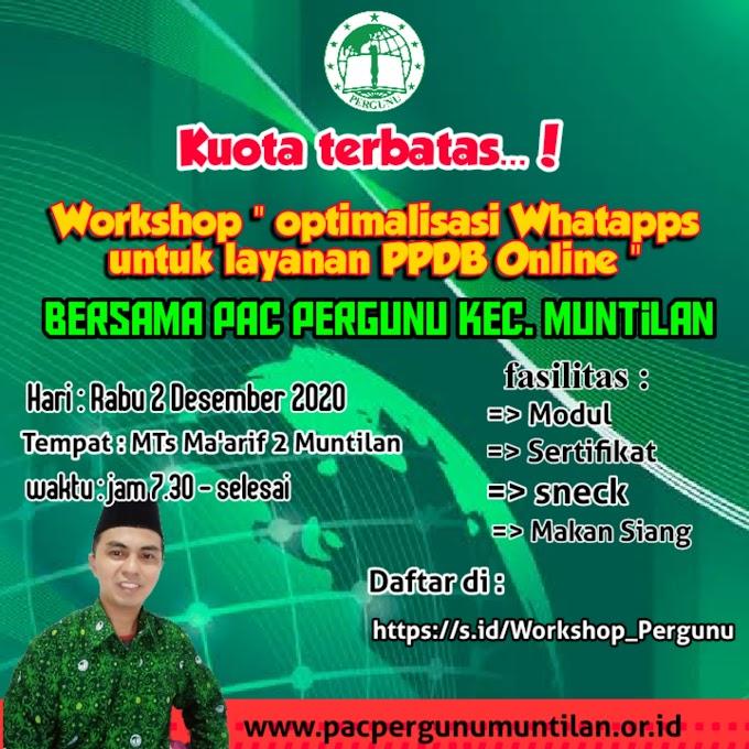 Workshop Optimalisasi Whatsapp Untuk Layanan PPDB Online