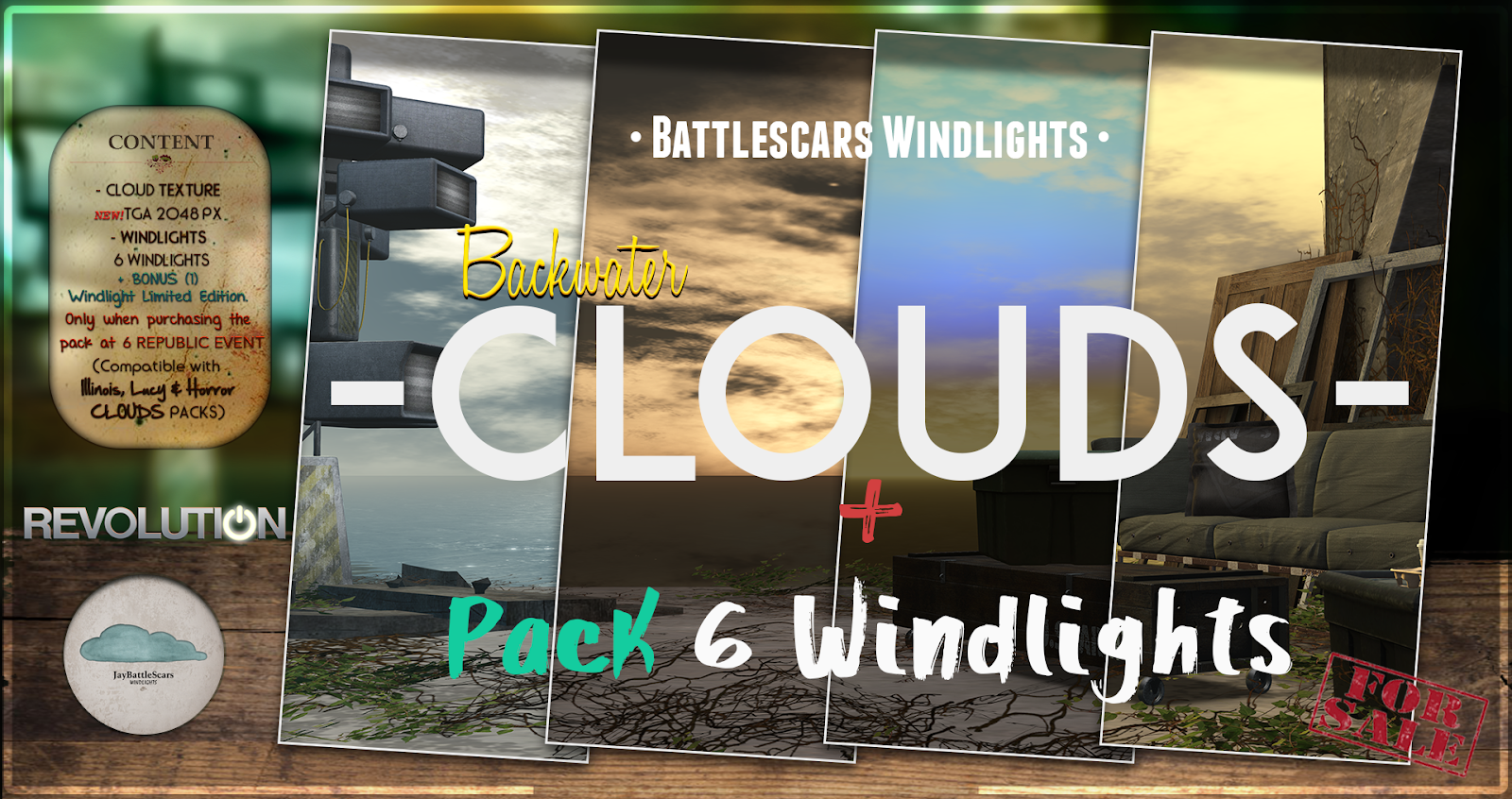 NEW RELEASE: Battlescars Windlights - CLOUDS - BACKWATER 1.0 (PREMIUM)