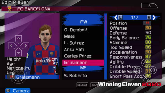 Free Download PES 2020 PPSSPP Mod Winning Eleven