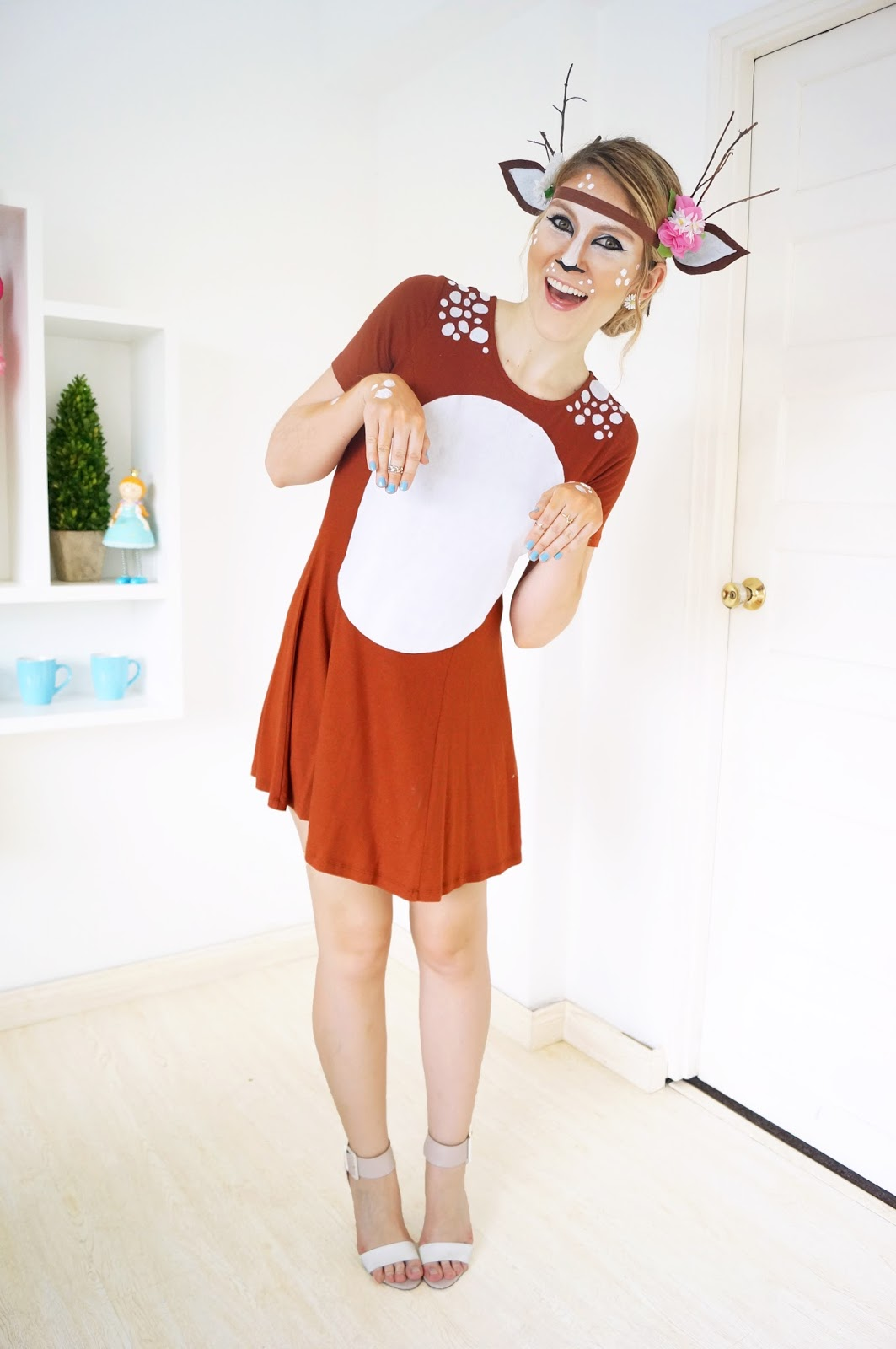 Easy deer Costume tutorial for Halloween