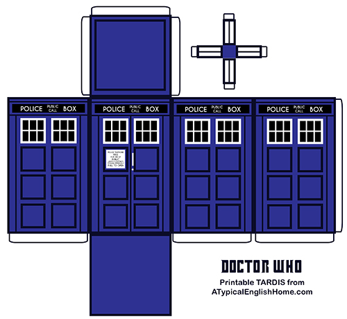 how to make a dr who tardis out of cardboard