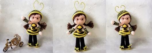 Chica-abeja-amigurumi
