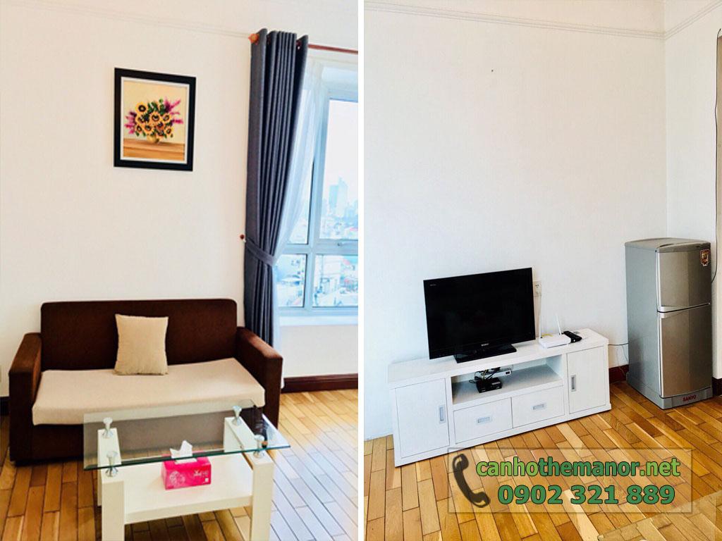 Căn hộ The Manor quận Bình Thạnh cho thuê tầng 7 block AW - hình 2