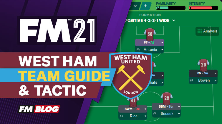 Football Manager 2021 West Ham 4-2-3-1 Tactic | Team Guide | FM21