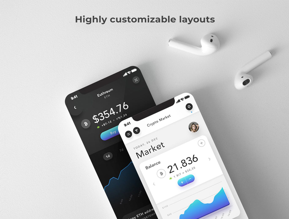 Noelle Wallet %2526 C currency Mobile App UI Ki