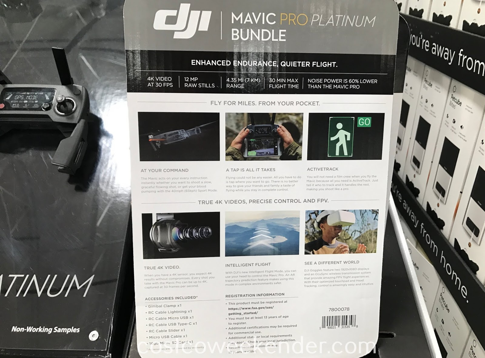 The goggles that come with the DJI Mavic Pro Platinum Bundle make you feel as if you're in the cockpit