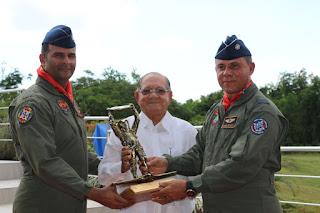 Develizan monumento en homenaje al Comando Aéreo de la FAR