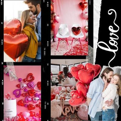 Decoración del día de los enamorados con globos