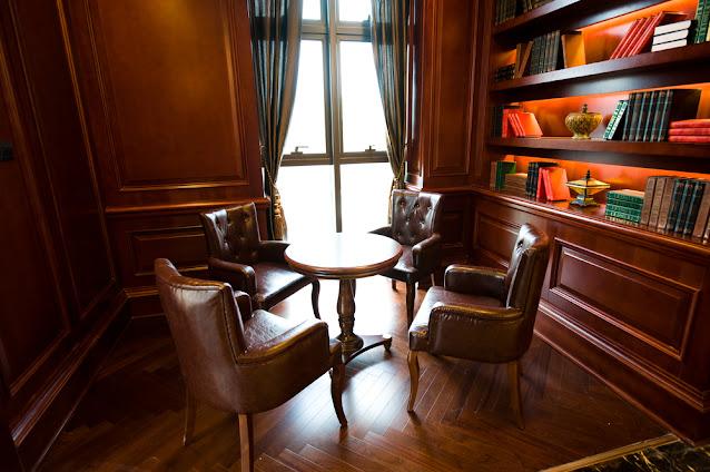 classic European-style study room