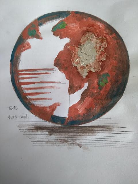 Ed Hill Metal Art - Rusted Sphere