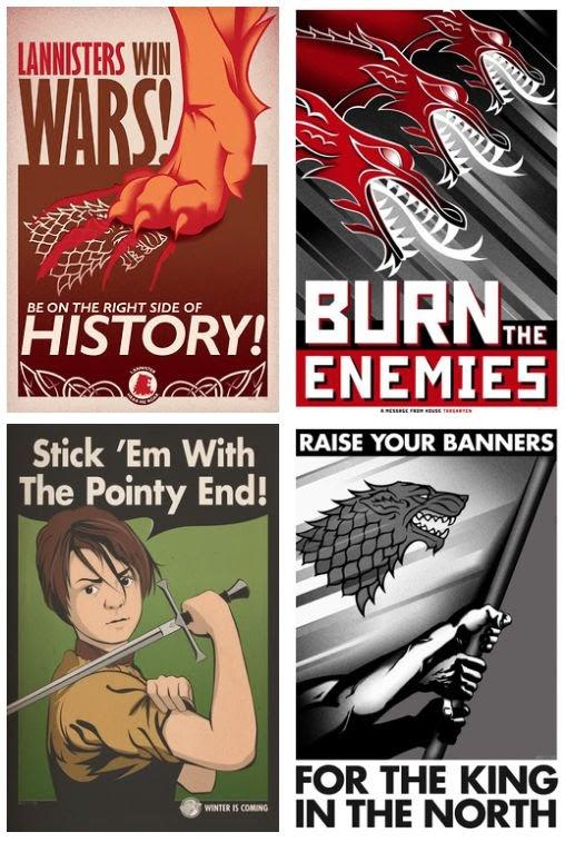 Meme de humor sobre carteles de propaganda de Juego de tronos