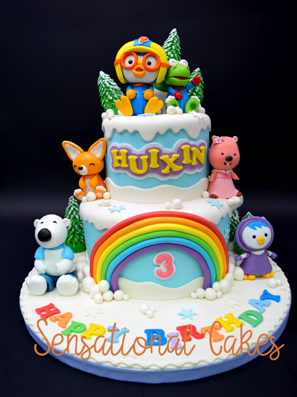 The Sensational Cakes Sugar Crafted Pororo Theme Cake