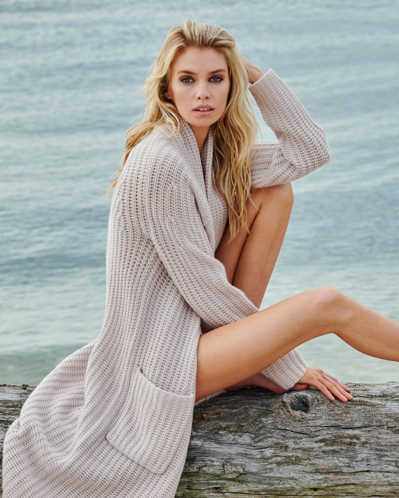 Stella Maxwell stars in Naked Cashmere fall 2020 campaign