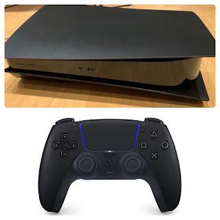 PS5 ブラックモデルとコントローラー