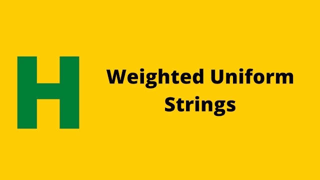 HackerRank Weighted Uniform Strings problem solution