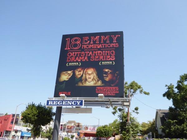 Stranger Things 2017 Emmy noms billboard