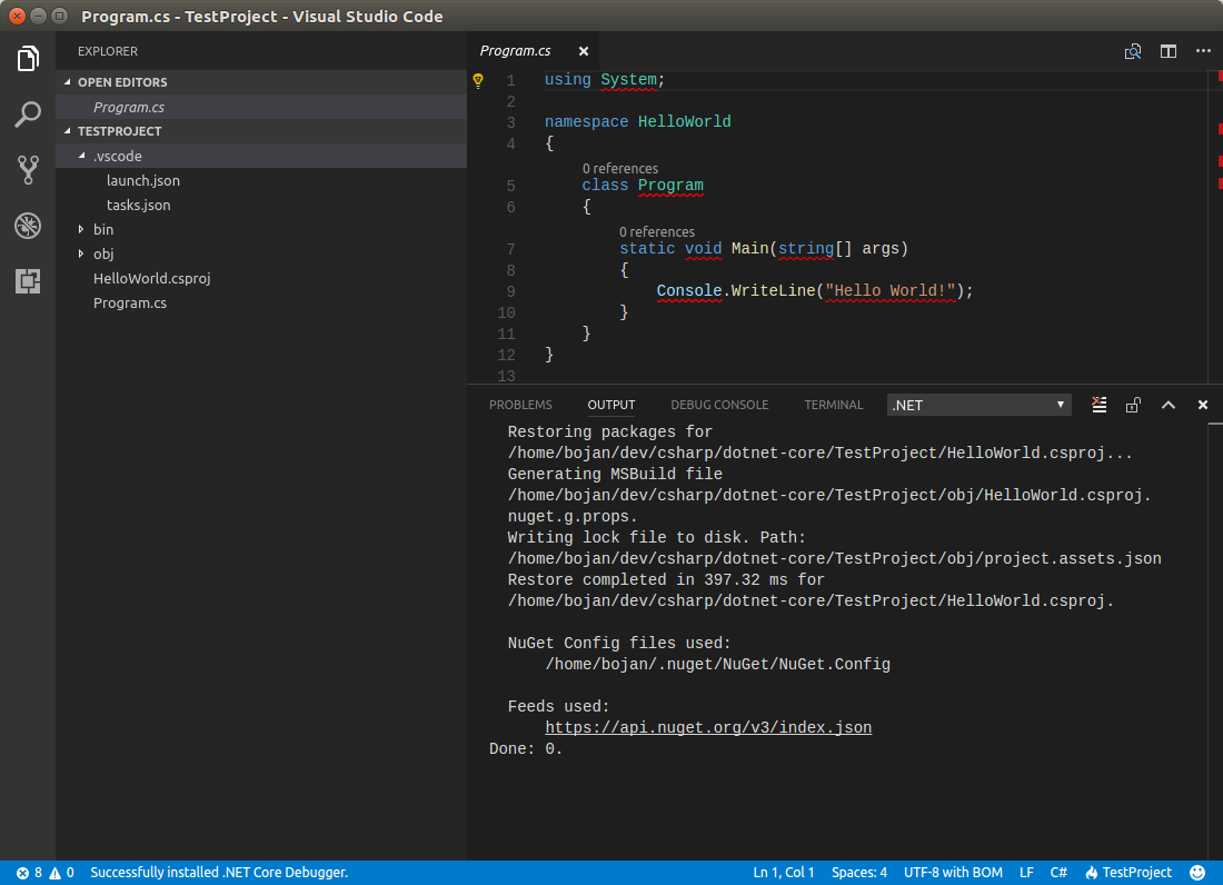 vscode how to run launch.json