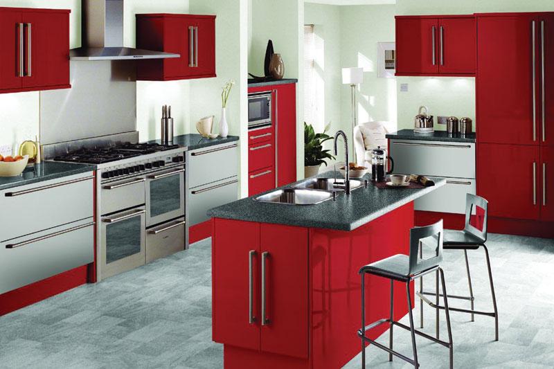 high quality interior design red kitchen ideas