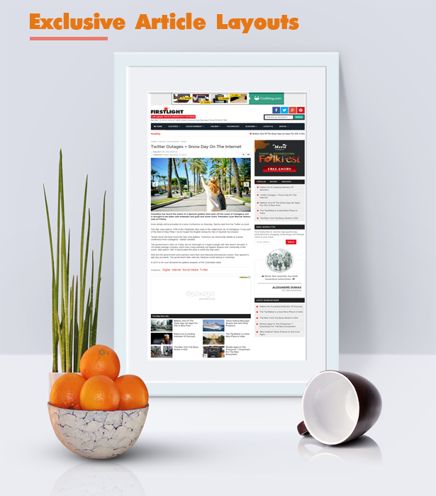 article blogger template