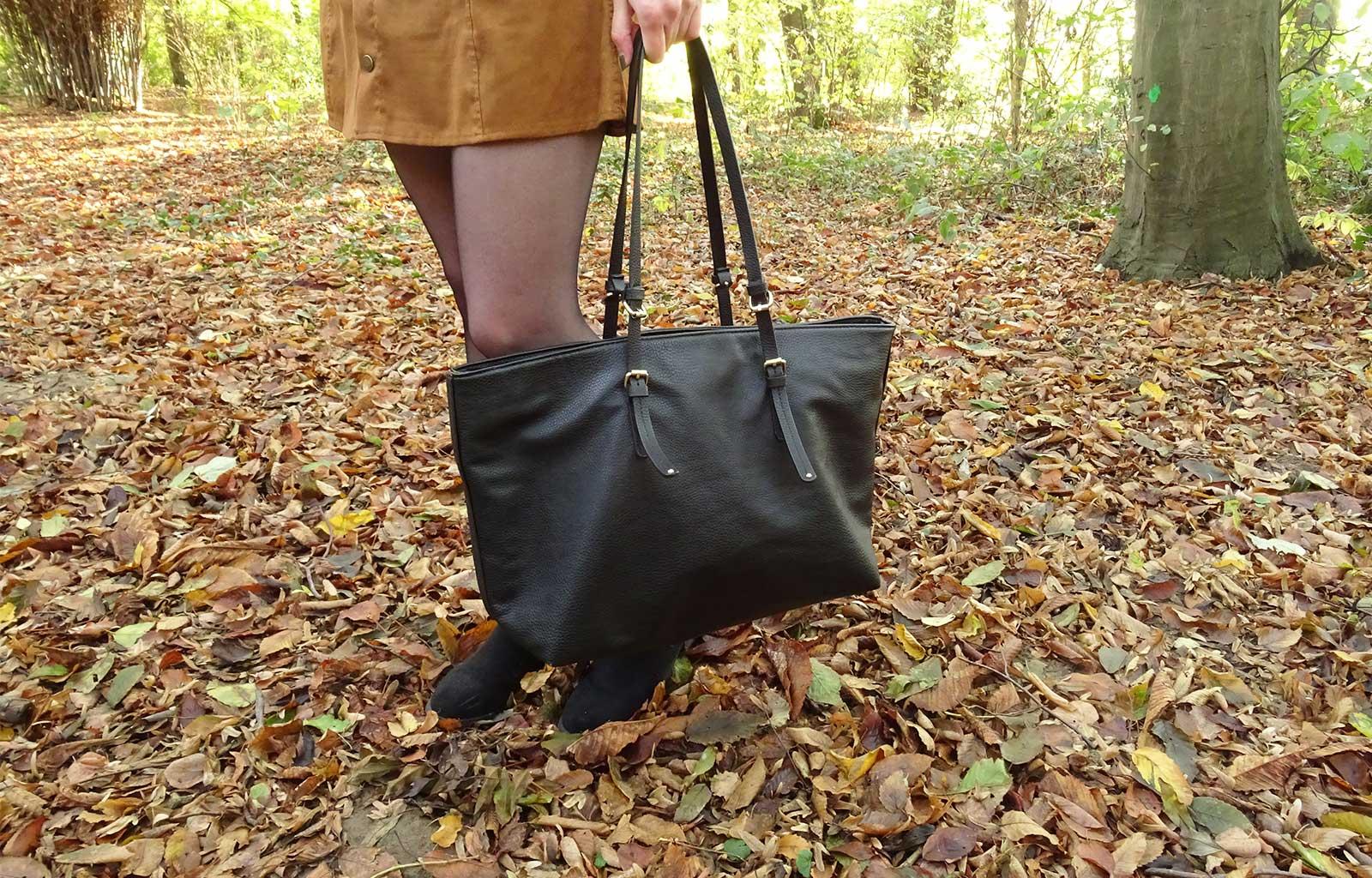 Look jupe en suédine shein automne