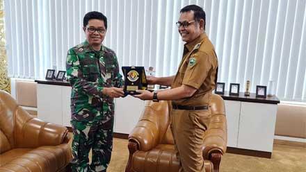 Bupati Solok Sambut Kunjungan Danlantamal II Padang