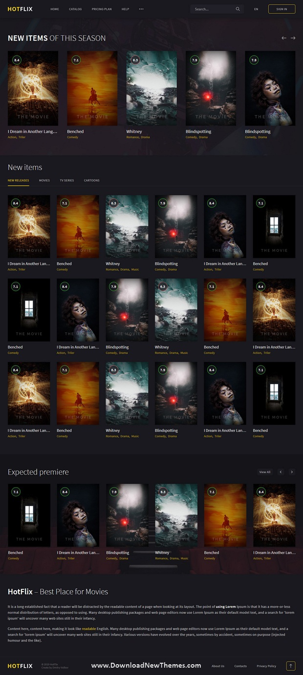 Online Movies, TV Shows & Cinema HTML Template