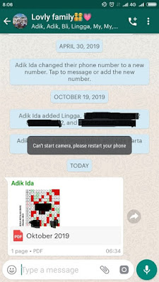 "Cara Mudah Mengatasi ""Can't start camera, please restart your phone"" di WhatsApp"
