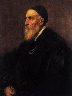 Titian, a self-portrait painted in about 1567, which can be found in the Prado in Madrid