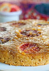 Blood Orange, 'Ricotta' and Almond Upside Down Cake