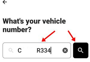 Enter vehicle number and search