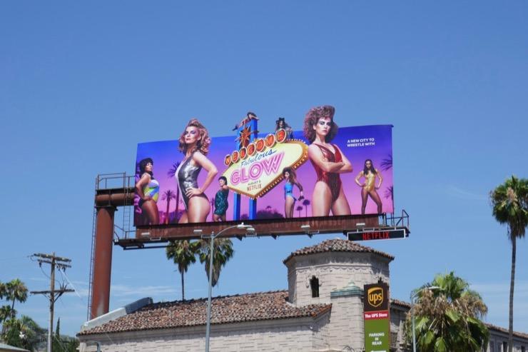 GLOW season 3 cut-out billboard