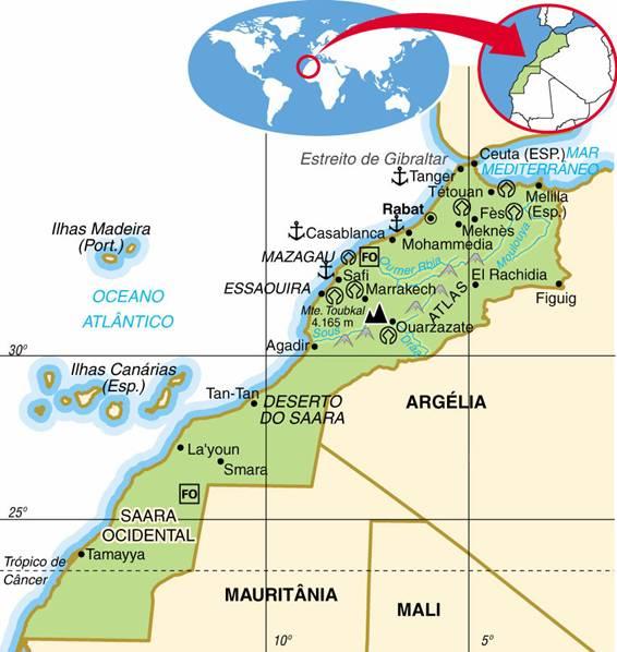 MARROCOS, ASPECTOS GEOGRÁFICOS E SOCIOECONÔMICOS DO MARROCOS