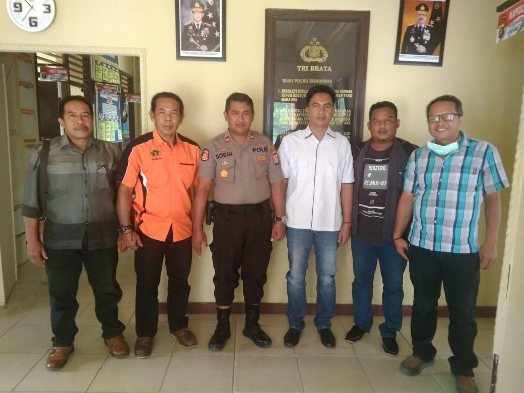 Tingkatkan Sinegitas, PWI Pulpis Silaturahmi Ke Polsek Kahayan Hilir