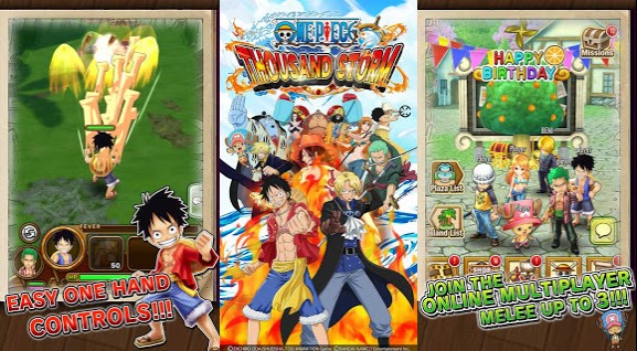 Download One Piece Thousand Storm All Characters Pirate Unlocked Full Opened MOD  Free Shopping Unlimited Money Cash Gold v10.2.1 Apk Android Terbaru Gratis