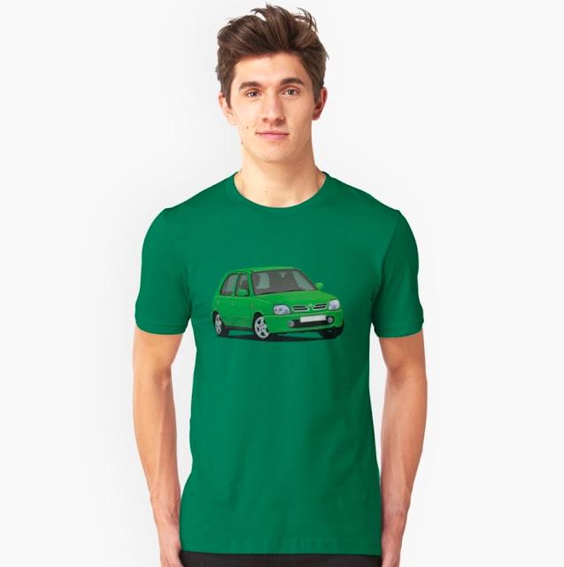 Nissan Micra t-paidat monissa väreissä