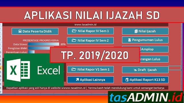 aplikasi nilai ijazah sd tahun pelajaran 2019/2020