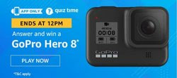 Amazon Quiz 13 December 2019 Answer Win - GoPro Hero 8