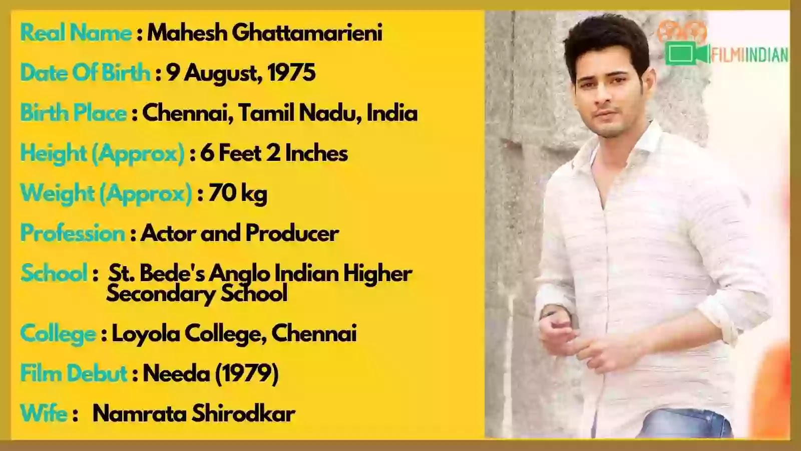 Mahesh Babu Age : Mahesh Babu Best Biography (2020), Family, wife, Children, life story, Profile and Weight