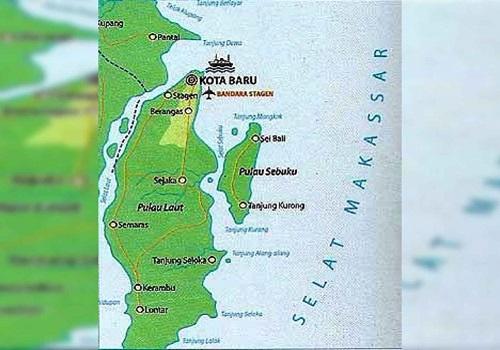 Ilustrasi peta Kabupaten Kotabaru