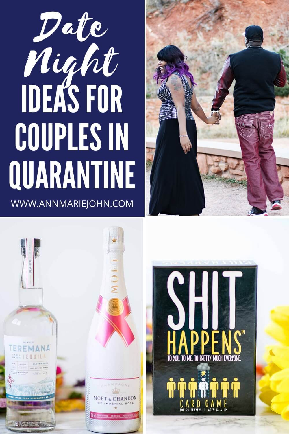 Date Night Ideas For Couples In Quarantine Pinterest Image